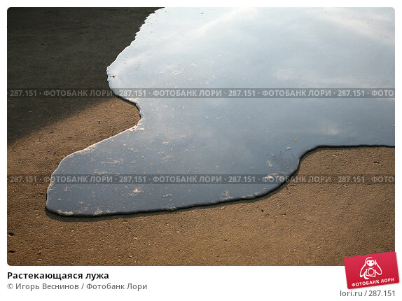 Растекающаяся лужа, фото № 287151, снято 12 мая 2008 г. (c) Игорь Веснинов / Фотобанк Лори