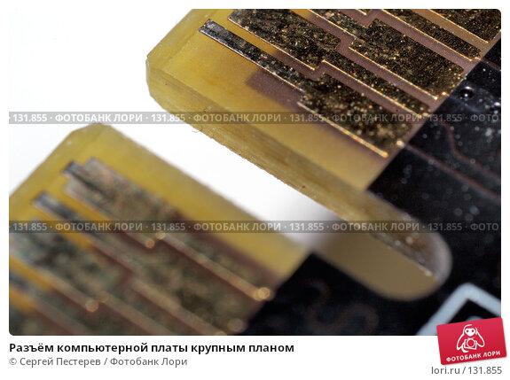 Разъём компьютерной платы крупным планом, фото № 131855, снято 25 мая 2007 г. (c) Сергей Пестерев / Фотобанк Лори