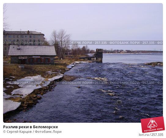 Разлив реки в Беломорске, фото № 257335, снято 6 мая 2006 г. (c) Сергей Карцов / Фотобанк Лори
