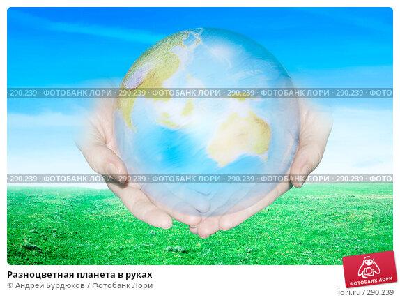 Разноцветная планета в руках, фото № 290239, снято 16 сентября 2006 г. (c) Андрей Бурдюков / Фотобанк Лори