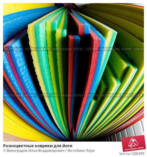 Разноцветные коврики для йоги, фото № 228879, снято 19 декабря 2007 г. (c) Виноградов Илья Владимирович / Фотобанк Лори