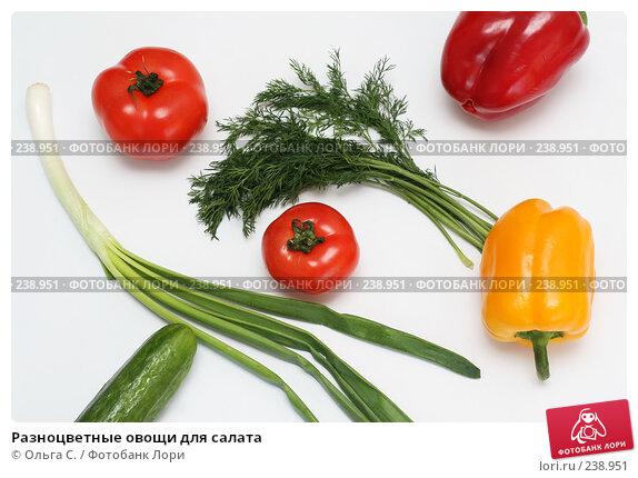 Разноцветные овощи для салата, фото № 238951, снято 31 марта 2008 г. (c) Ольга С. / Фотобанк Лори