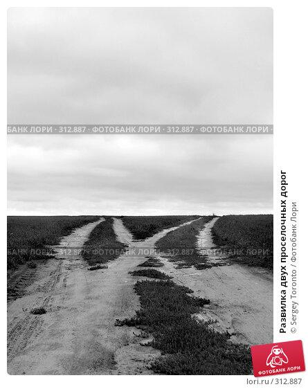 Развилка двух проселочных дорог, фото № 312887, снято 1 января 2004 г. (c) Sergey Toronto / Фотобанк Лори
