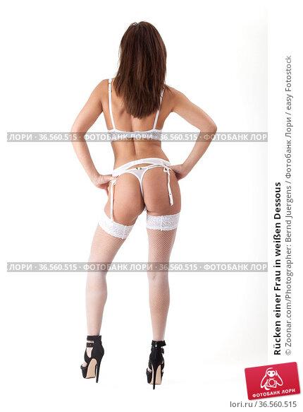 Rücken einer Frau in weißen Dessous. Стоковое фото, фотограф Zoonar.com/Photographer: Bernd Juergens / easy Fotostock / Фотобанк Лори
