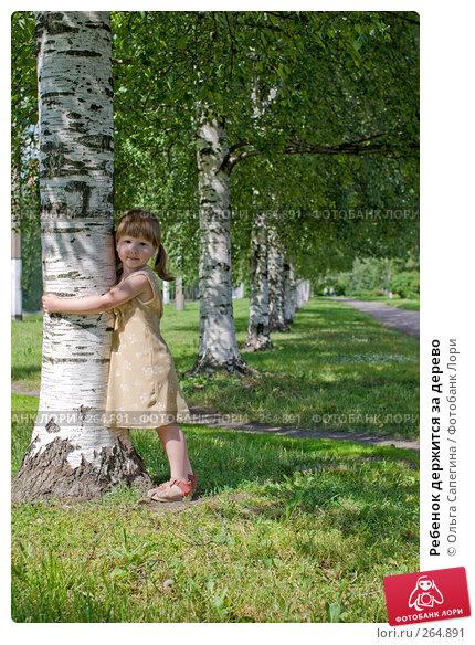 Ребенок держится за дерево, фото № 264891, снято 3 июля 2007 г. (c) Ольга Сапегина / Фотобанк Лори