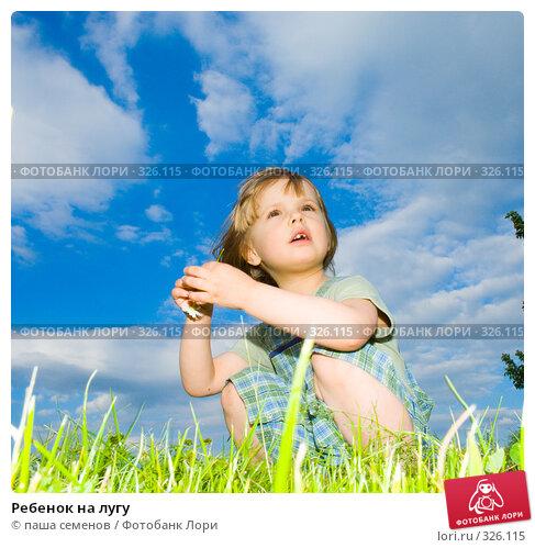 Ребенок на лугу, фото № 326115, снято 11 июня 2008 г. (c) паша семенов / Фотобанк Лори