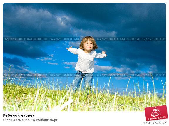 Ребенок на лугу, фото № 327123, снято 15 июня 2008 г. (c) паша семенов / Фотобанк Лори
