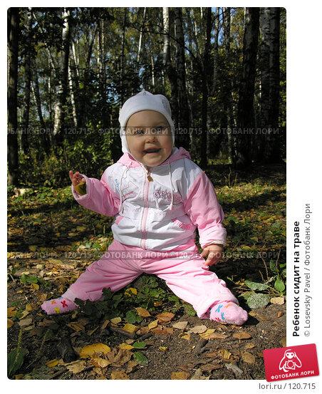 Купить «Ребенок сидит на траве», фото № 120715, снято 15 сентября 2005 г. (c) Losevsky Pavel / Фотобанк Лори