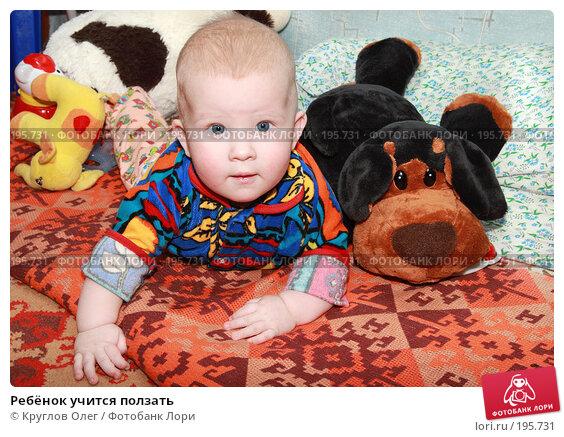 Ребёнок учится ползать, фото № 195731, снято 1 января 2008 г. (c) Круглов Олег / Фотобанк Лори