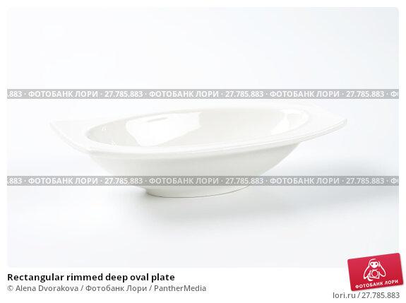 Купить «Rectangular rimmed deep oval plate», фото № 27785883, снято 22 февраля 2018 г. (c) PantherMedia / Фотобанк Лори