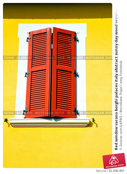 Red window varano borghi palaces italy abstract sunny day wood venetian... Стоковое фото, фотограф Zoonar.com/LKPRO / easy Fotostock / Фотобанк Лори