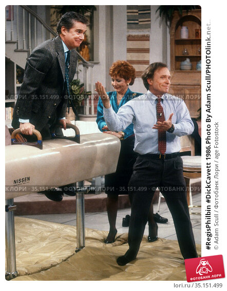 #RegisPhilbin #DickCavett 1986.Photo By Adam Scull/PHOTOlink.net.. Редакционное фото, фотограф Adam Scull / age Fotostock / Фотобанк Лори
