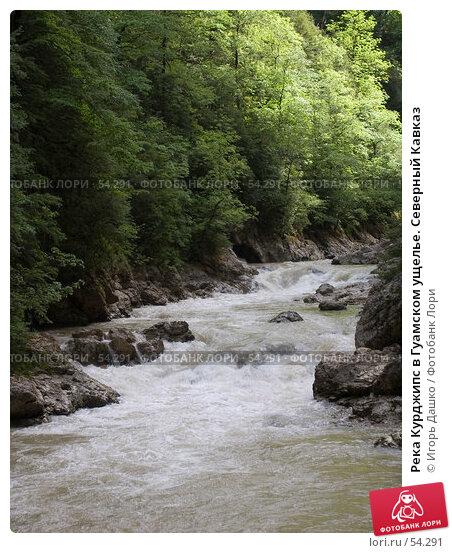 Река Курджипс в Гуамском ущелье. Северный Кавказ, фото № 54291, снято 26 мая 2007 г. (c) Игорь Дашко / Фотобанк Лори