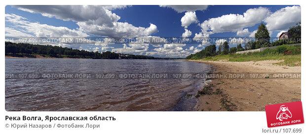Река Волга, Ярославская область, фото № 107699, снято 24 июля 2017 г. (c) Юрий Назаров / Фотобанк Лори