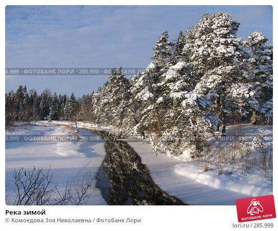Река зимой, фото № 285999, снято 24 декабря 2005 г. (c) Комоедова Зоя Николаевна / Фотобанк Лори