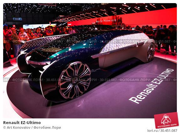 Renault EZ-Ultimo (2019 год). Редакционное фото, фотограф Art Konovalov / Фотобанк Лори