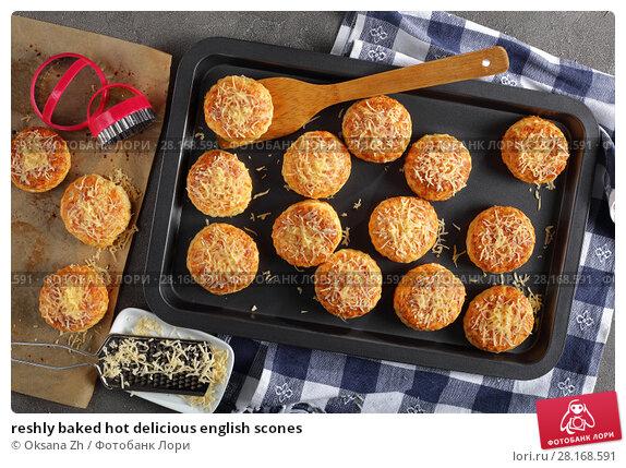 Купить «reshly baked hot delicious english scones», фото № 28168591, снято 28 февраля 2018 г. (c) Oksana Zh / Фотобанк Лори