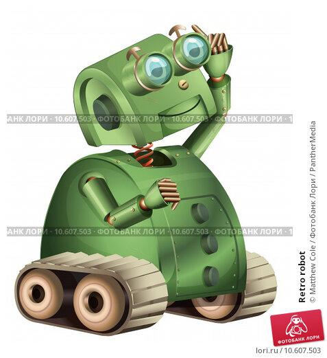 Retro robot. Стоковая иллюстрация, иллюстратор Matthew Cole / PantherMedia / Фотобанк Лори