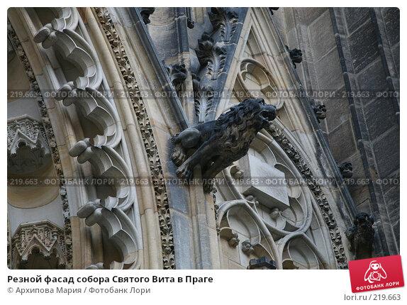 Резной фасад собора Святого Вита в Праге, фото № 219663, снято 29 сентября 2007 г. (c) Архипова Мария / Фотобанк Лори