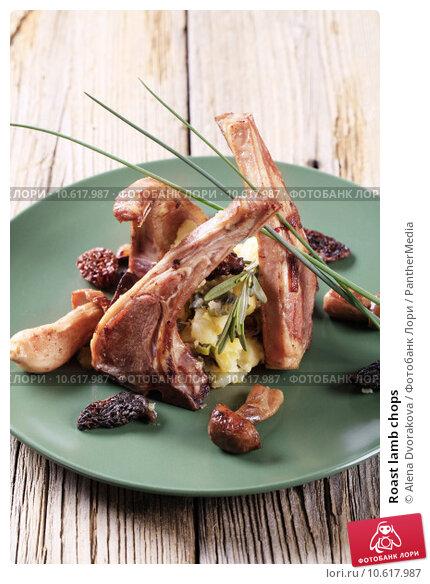 Roast lamb chops . Стоковое фото, фотограф Alena Dvorakova / PantherMedia / Фотобанк Лори