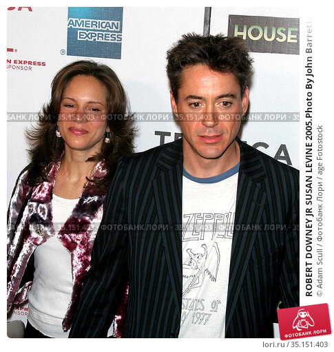 ROBERT DOWNEY JR SUSAN LEVINE 2005.Photo By John Barrett/PHOTOlink... Редакционное фото, фотограф Adam Scull / age Fotostock / Фотобанк Лори
