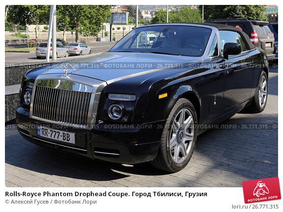 Купить «Rolls-Royce Phantom Drophead Coupe. Город Тбилиси, Грузия», эксклюзивное фото № 26771315, снято 12 июля 2017 г. (c) Алексей Гусев / Фотобанк Лори