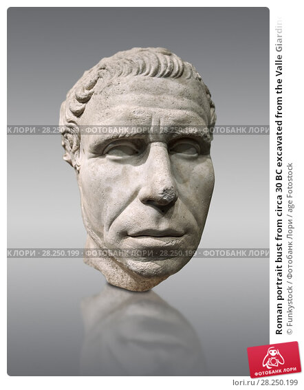 Купить «Roman portrait bust from circa 30 BC excavated from the Valle Giardino, Nemi, Rome.Inv 66177, The National Roman Museum, Rome, Italy.», фото № 28250199, снято 1 апреля 2017 г. (c) age Fotostock / Фотобанк Лори