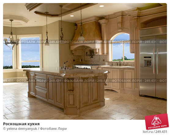 Роскошная кухня, фото № 249431, снято 27 июня 2017 г. (c) yelena demyanyuk / Фотобанк Лори