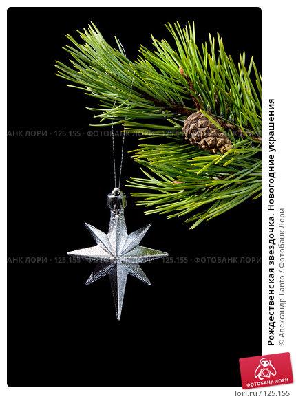 Рождественская звездочка. Новогодние украшения, фото № 125155, снято 8 декабря 2016 г. (c) Александр Fanfo / Фотобанк Лори