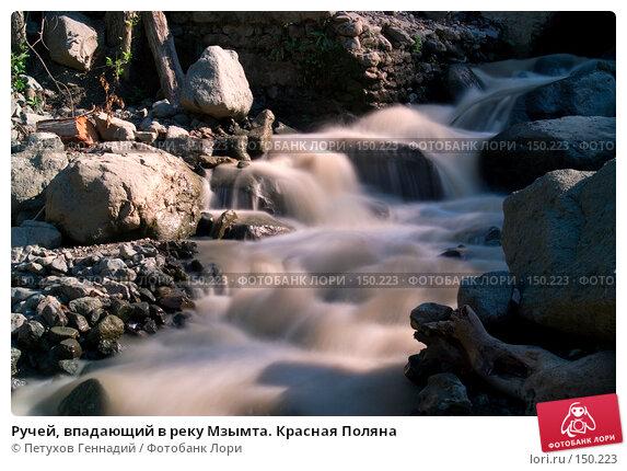 Ручей, впадающий в реку Мзымта. Красная Поляна, фото № 150223, снято 13 августа 2007 г. (c) Петухов Геннадий / Фотобанк Лори