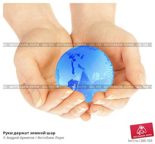 Купить «Руки держат земной шар», фото № 265103, снято 1 апреля 2008 г. (c) Андрей Армягов / Фотобанк Лори