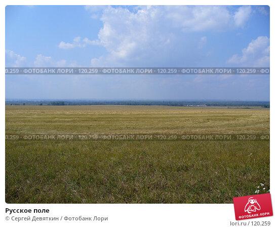 Русское поле, фото № 120259, снято 24 августа 2007 г. (c) Сергей Девяткин / Фотобанк Лори