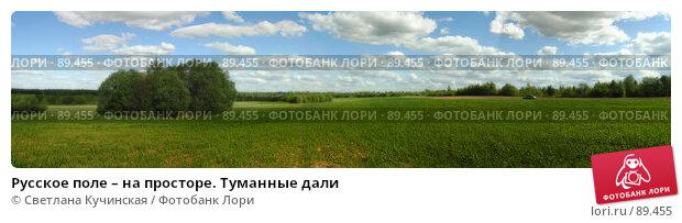 Русское поле – на просторе. Туманные дали, фото № 89455, снято 28 июня 2017 г. (c) Светлана Кучинская / Фотобанк Лори