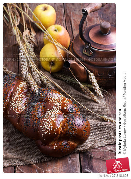 Купить «Rustic pastries and tea», фото № 27818695, снято 17 октября 2018 г. (c) PantherMedia / Фотобанк Лори