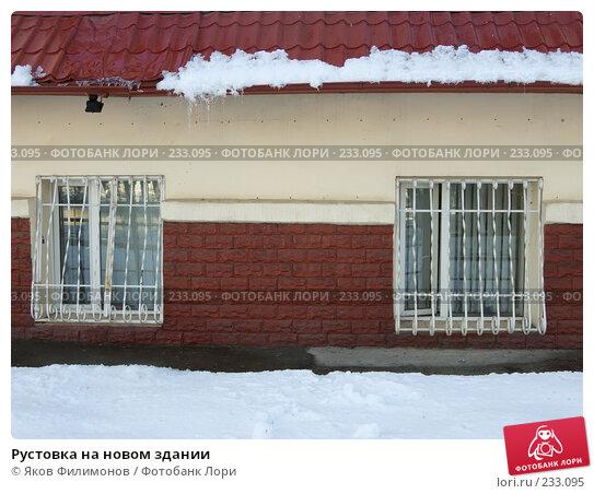 Рустовка на новом здании, фото № 233095, снято 21 марта 2008 г. (c) Яков Филимонов / Фотобанк Лори