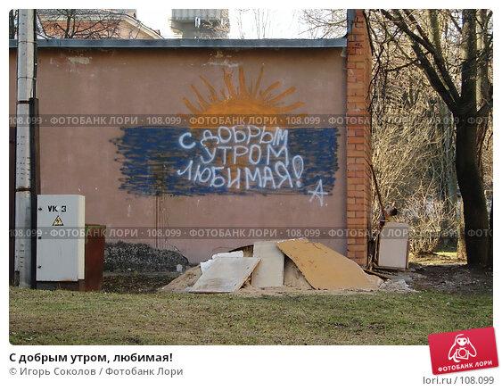С добрым утром, любимая!, эксклюзивное фото № 108099, снято 25 мая 2017 г. (c) Игорь Соколов / Фотобанк Лори