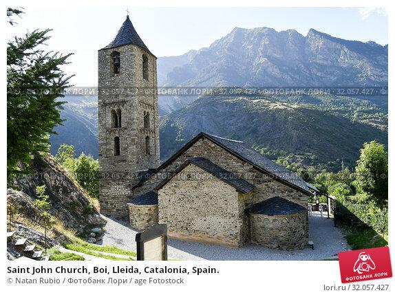 Saint John Church, Boi, Lleida, Catalonia, Spain. Стоковое фото, фотограф Natan Rubio / age Fotostock / Фотобанк Лори