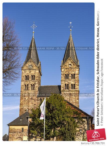 Saint Peter's Church in Fritzlar, Schwalm-Eder district, Hesse, Germany... Стоковое фото, фотограф Peter Schickert / age Fotostock / Фотобанк Лори