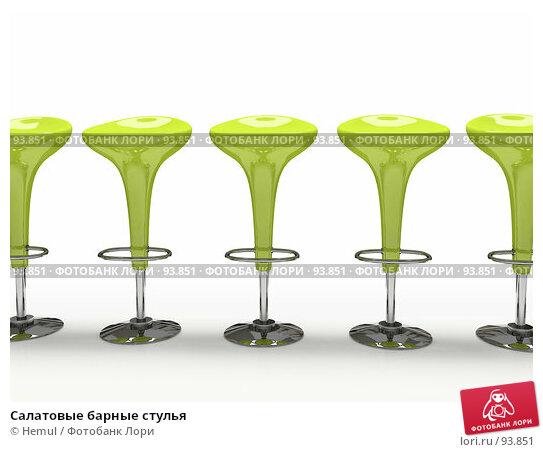Салатовые барные стулья, иллюстрация № 93851 (c) Hemul / Фотобанк Лори