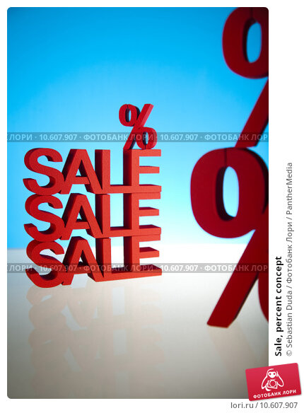 Sale, percent concept. Стоковое фото, фотограф Sebastian Duda / PantherMedia / Фотобанк Лори
