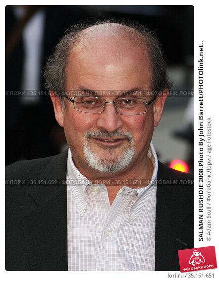 SALMAN RUSHDIE 2008.Photo By John Barrett/PHOTOlink.net.. Редакционное фото, фотограф Adam Scull / age Fotostock / Фотобанк Лори