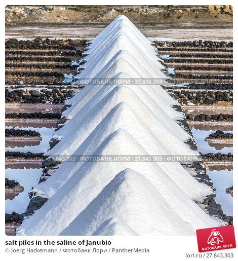 Купить «salt piles in the saline of Janubio», фото № 27843303, снято 17 октября 2018 г. (c) PantherMedia / Фотобанк Лори