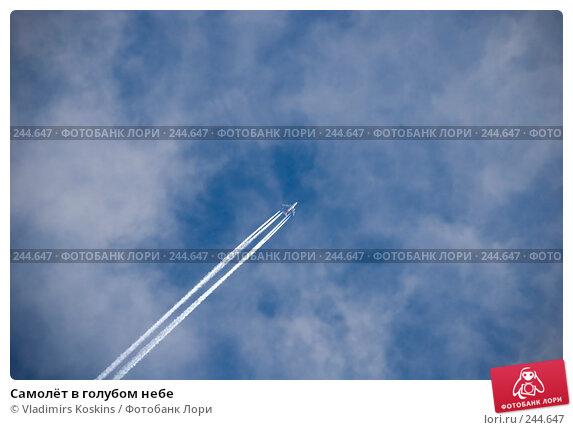 Самолёт в голубом небе, фото № 244647, снято 31 января 2008 г. (c) Vladimirs Koskins / Фотобанк Лори