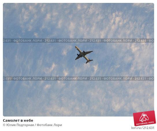 Самолет в небе, фото № 212631, снято 11 марта 2007 г. (c) Юлия Селезнева / Фотобанк Лори