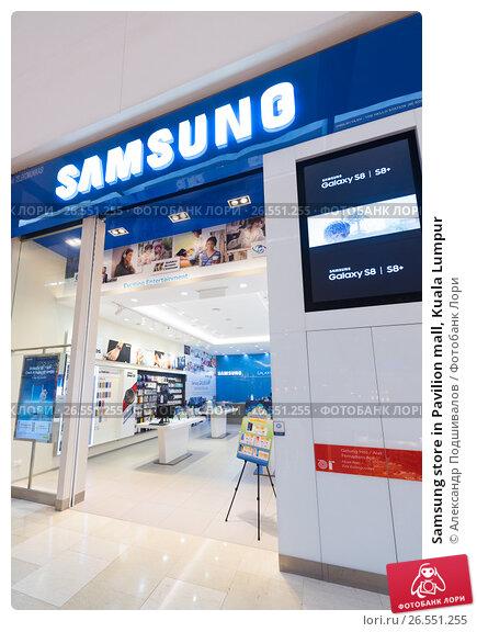 Купить «Samsung store in Pavilion mall, Kuala Lumpur», фото № 26551255, снято 16 июня 2017 г. (c) Александр Подшивалов / Фотобанк Лори