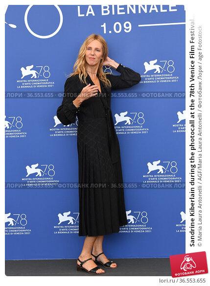 Sandrine Kiberlain during the photocall at the 78th Venice Film Festival... Редакционное фото, фотограф Maria Laura Antonelli / AGF/Maria Laura Antonelli / age Fotostock / Фотобанк Лори