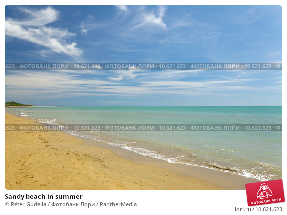 Sandy beach in summer. Стоковое фото, фотограф Péter Gudella / PantherMedia / Фотобанк Лори