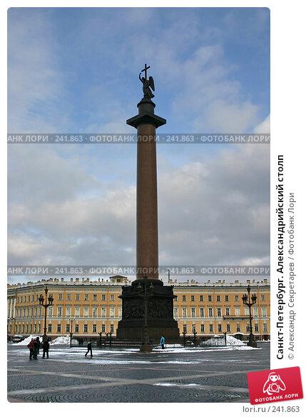Санкт-Петербург. Александрийский столп, фото № 241863, снято 25 марта 2017 г. (c) Александр Секретарев / Фотобанк Лори