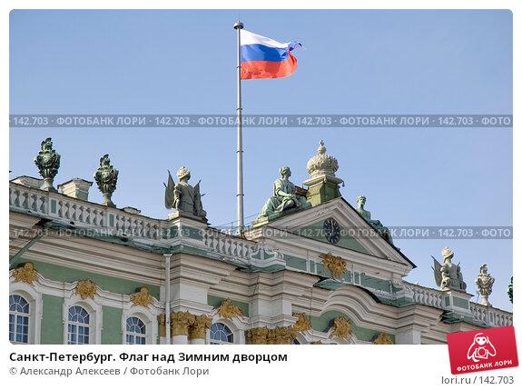 Купить «Санкт-Петербург. Флаг над Зимним дворцом», эксклюзивное фото № 142703, снято 9 июня 2006 г. (c) Александр Алексеев / Фотобанк Лори