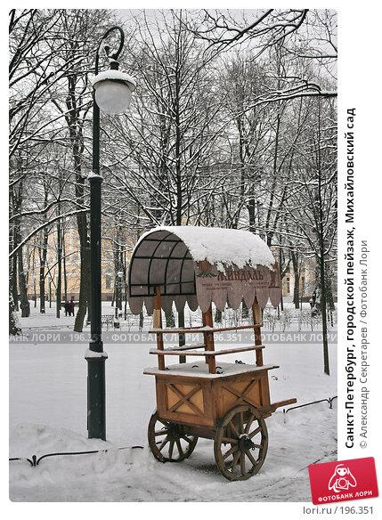 Санкт-Петербург, городской пейзаж, Михайловский сад, фото № 196351, снято 4 февраля 2008 г. (c) Александр Секретарев / Фотобанк Лори